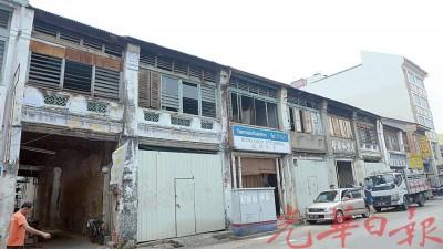 汕头街6间半战前建筑料在明年修复,开放老行业进驻。