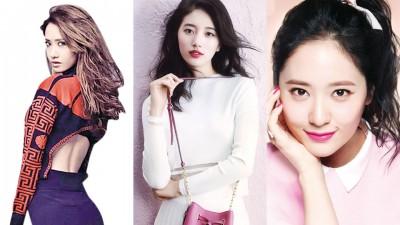 润娥(左起)、秀智、Krystal被115名偶像选为女团最美成员前3名。