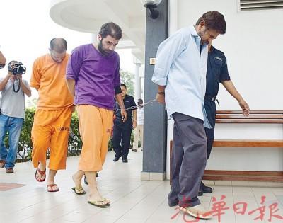 2名伊朗及1名印裔男子涉嫌运毒案被带上推事庭面控。