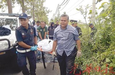 第3具身份不明的男尸,在吉北樟仑往黑木山大道旁草丛被发现。