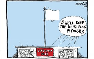 英国《每日电讯报》刊登漫画讽刺工党选出科尔宾作为党魁,等同于放弃下次大选。