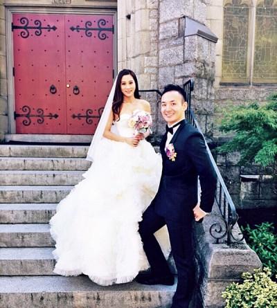 港姐张嘉儿温哥华出嫁。