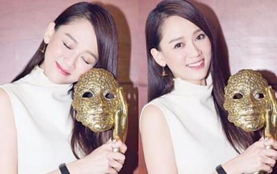 陈乔恩在中国拿下最佳话剧女演员奖心情激动。