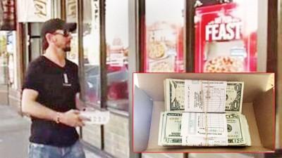 维加斯收到一盒现金。