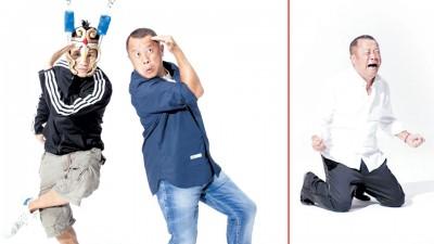 曹格(左)首度执导新歌MV,特邀来曾志英雄跨刀演出。曾志伟10秒内打大笑转而愤怒痛哭,演技深厚。