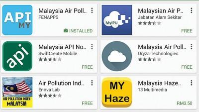 安卓系统的Google Play有多种可以查询空气污染指数的手机应用程序,让大家可以随时掌握资讯。