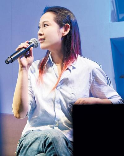 刘若英在座谈会上分享许多心情故事。