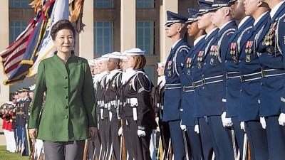 朴槿惠正于美国进行访问。(法新社照片)