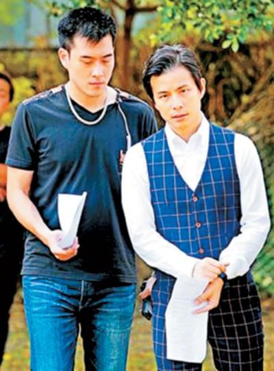 孙协志(右)宣布与韩瑜离婚后首度现身。