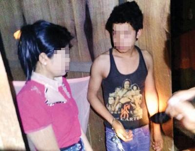 无法出示合法准证的缅甸籍外劳当场被扣查。