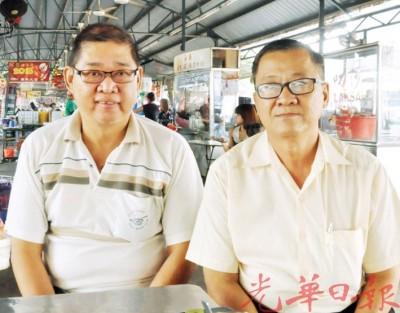 威省跟前商贩必须施打预防针才会得执照,左起刘裕德与洪铷鸿。