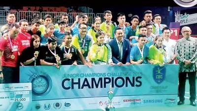 蕉赖青年队赢得紫盟新秀羽球冠军挑战赛冠军和2万5000令吉奖金。