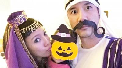 王力宏在脸书分万圣节变装照,粉丝猛看以为李靓蕾是林心如。