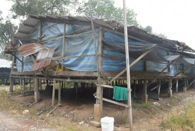 王云海的鸡场目前被空置,因烟霾情况暂时还未引进新一批小鸡饲养。