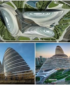 """北京的""""望京SOHO""""商业写字楼因外形奇特,在德国的建筑比赛中获奖"""