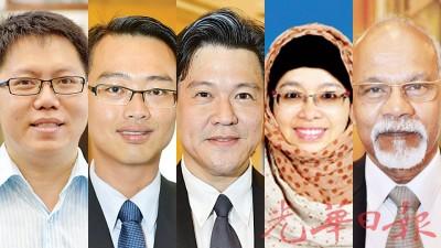 5各类投弃权票的正义党后座议员,王敬文、李凯伦、谢嘉平、诺丽拉、重新巴兰。