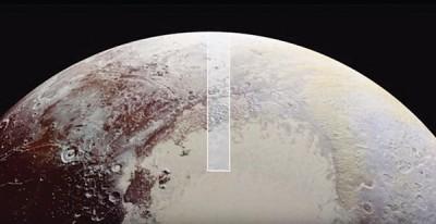 冥王星上部分地方受严重侵蚀,图为名为恶地(badland)的地质结构。