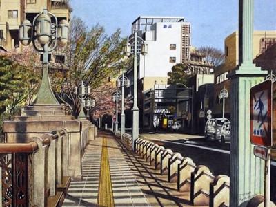 在木颜色笔下,可画出媲美真实照片的美丽街景。