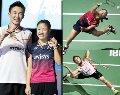 桃田贤斗同奥原指望于总决赛颁奖礼后合影,她们称王封后的又为显得了日本在接下来如奥运会的大赛中不乏男女单夺冠的机遇。