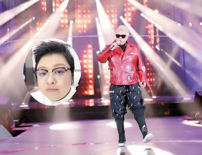 在彩排现场,韩红造型酷似权志龙,她表示是Bigbang的粉丝。