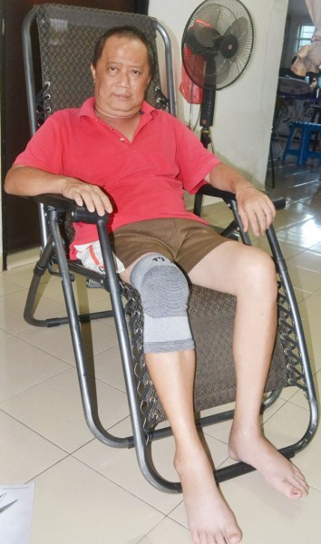 詹财裕恳求社会各界施予援手,让他继续抗癌。