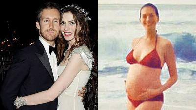 安海瑟薇与演员老公亚当舒尔曼结婚3年多,夫妻两人一直公开表示很想要孩子。