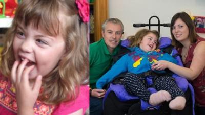英国5岁小女童哈德曼,患上罕见的致命性神经退化疾病,身体机能一天较一天差,预料活不过10岁。