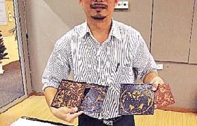 ATEC学院院长王俊龙带领的版画,让大家认识传统的印刷技术。
