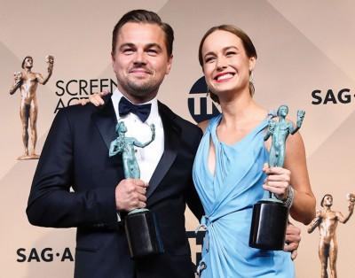 里奥纳过同布丽拉森拿下演员工会奖男女主角奖项。