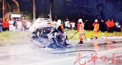 新邦安拔消防员前往灭火。