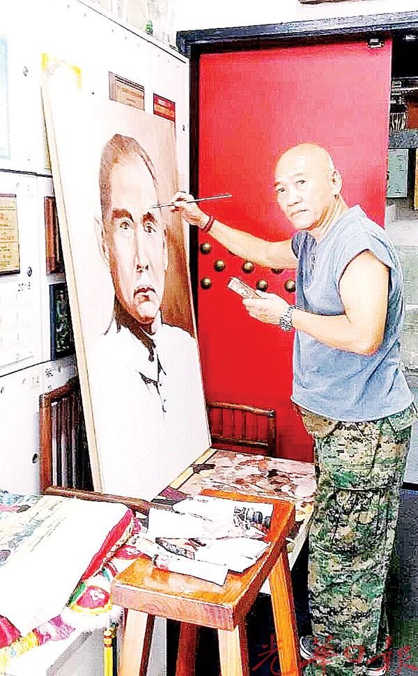 周强师傅将于2月17日,赠送一幅由他创作的孙中山油画肖像予孙中山槟城基地纪念馆。