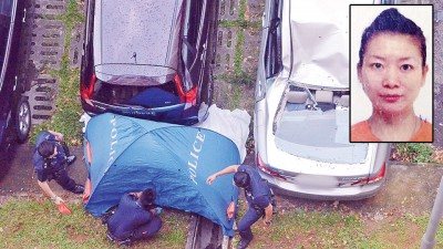 祁敏婕当波东巴西组屋坠楼,坠落时砸中一致部汽车。