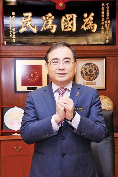 魏家祥祝《光华日报》读者新年快乐!