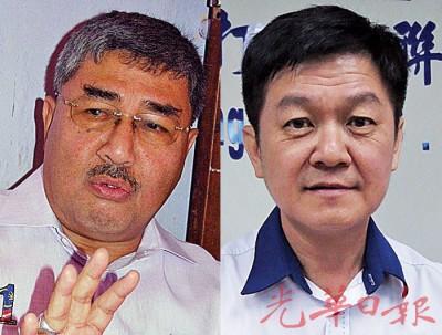(左起)吉打新大臣阿末巴沙。马华吉州主席李志亮率领马华领袖见新大臣商讨华社问题。