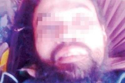 大马籍炸弹手莫哈末纳吉临死的视频画面。