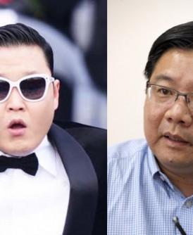 邓章耀(右图)赞同国会公账会调查PSY(左图)在槟州国阵农历新年团拜演出一事。