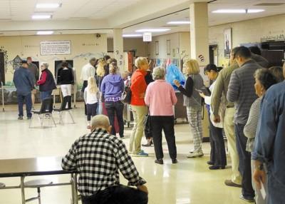 田纳西州的选民排队投票。