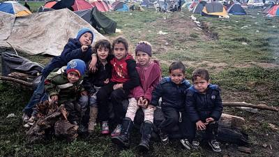 保护儿童组织担心数以万计无成人保护的难民儿童将陷入性侵危机。(法新社照片)