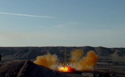 伊斯兰革命卫队周二在该国境内多地进行了弹道导弹发射。(法新社照片)