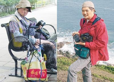 周润发同姐姐周聪玲(左图)还热爱摄影,周聪玲赶昆虫、花草风景,闹媒体称其是都中的野人。