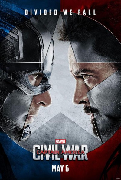 全球同步公开《美国队长3:英雄内战》正式版预告片和海报。