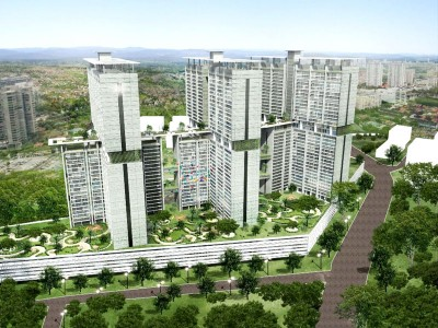图为一马房屋机构在关税村的概念中发展计划。
