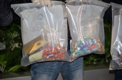 部分毒品被伪装成巧克力。