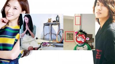 言承旭外甥的像背景(右小图),疑似是系统志玲房间。
