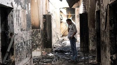美军误炸无国界医生医院,致使42人口死。