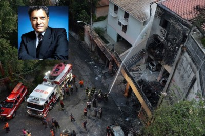 小型飞机坠落民居,消息指阿涅利(左上)全家罹难。