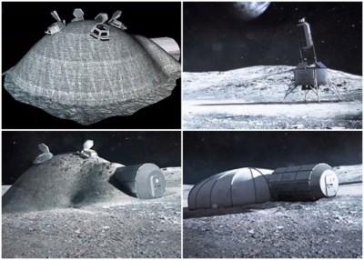 ESA计划利用月球上的天然资源,建立月面基地。