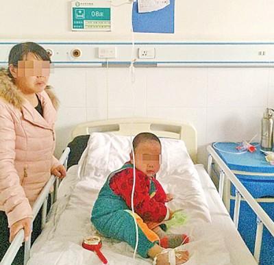 患儿在医院接受观察。
