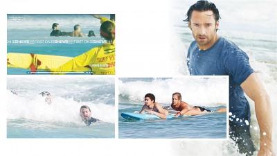 (些微图上)晓积文拉溺水游客的镜头被疯传,外刚刚拿遇险男泳客与其他一妇女拉上岸。(些微图左)晓积文(右)盼儿女叫卷走,不久上前抢救。(些微图右)奥斯卡(左)于救生员的伴随下回到岸上。