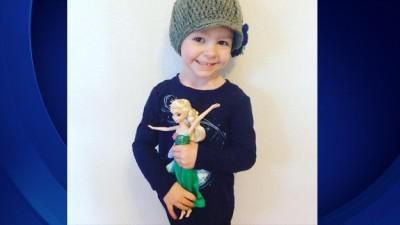 沃尔顿4只月大便给确诊患有脑瘤。